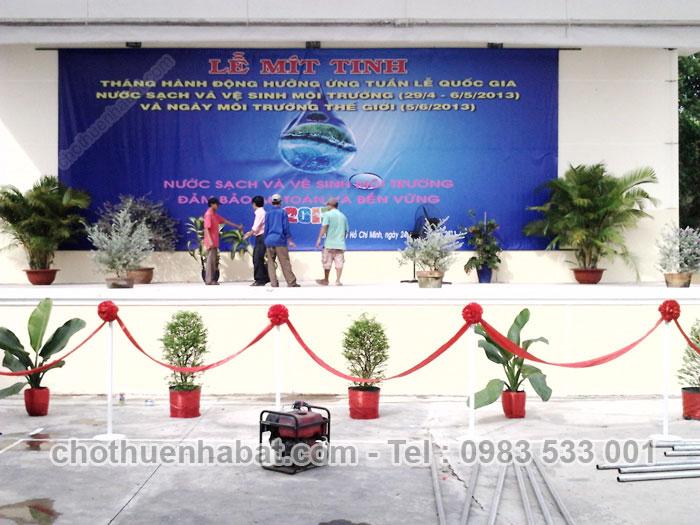 Nhà bạt Lễ mít tinh tháng hành động hưởng ứng tuần lễ quốc gia nước sạch