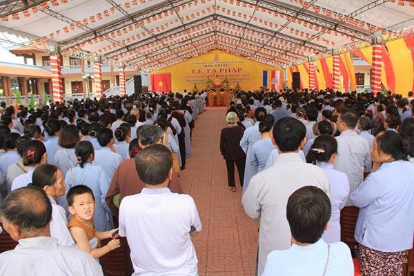 Động thổ giảng đường TTVH Phật giáo Hà Tĩnh