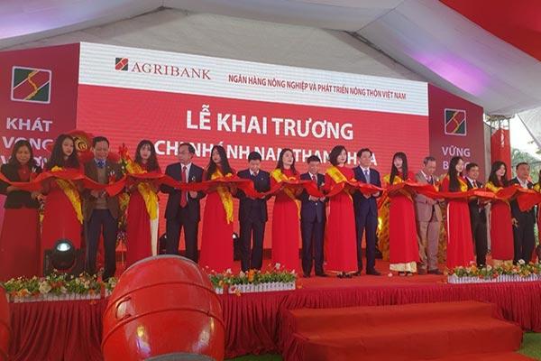 Khai trương CN Agribank Nam Thanh Hóa