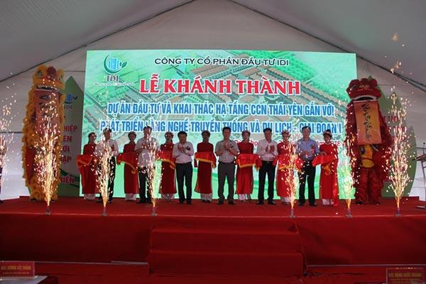 Khánh thành Cụm Công nghiệp Thái Yên GD1