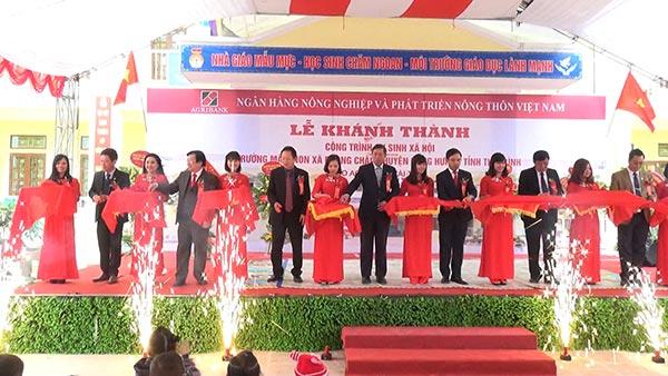 Lễ Khánh thành trường MN xã Phong Châu