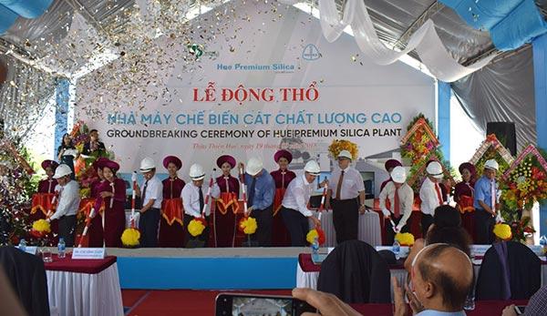 Khởi công Nhà máy chế biến cát chất lượng cao tại Huế