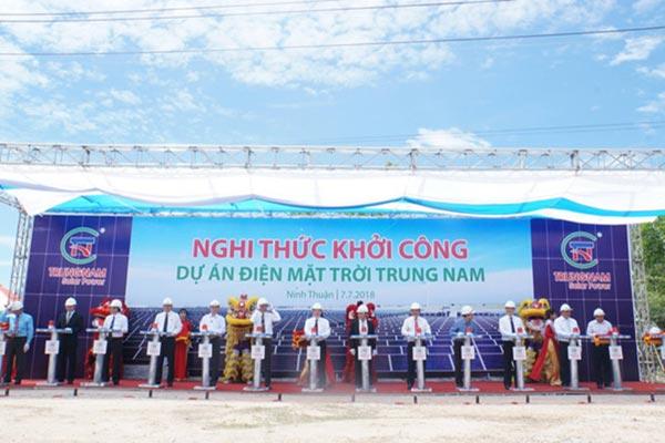 Khởi công nhà máy điện mặt trời Trung Nam
