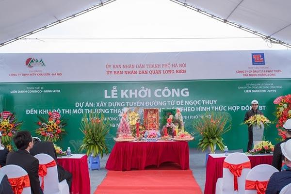 Khởi công tuyến đường 40m Long Biên