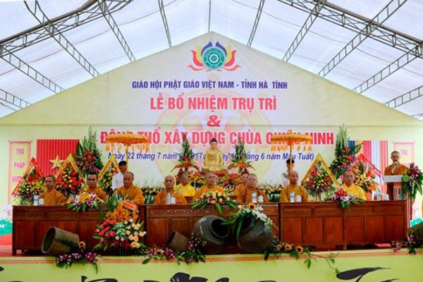 Động thổ xây dựng giảng đường chùa Chiêu Ninh