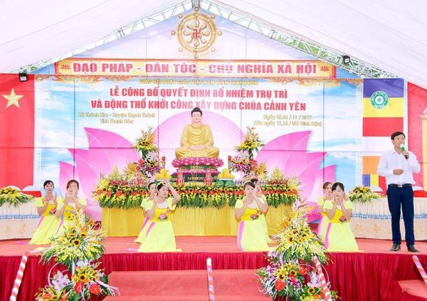 Lễ Bổ nhiệm trụ trì chùa Cảnh Yên