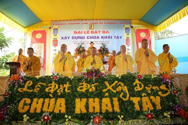 Lễ đặt đá xây dựng chùa Khái Tây