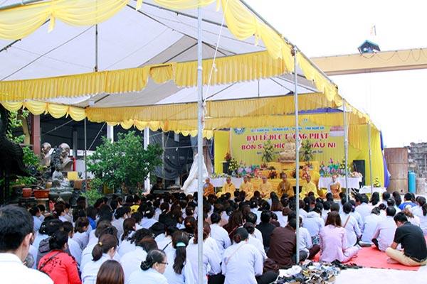 Lễ đúc tượng chùa Đức Hậu TP Vinh