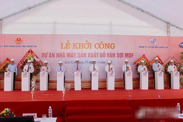 Khởi công Dự án Nhà máy sản xuất gỗ tại Nghệ An