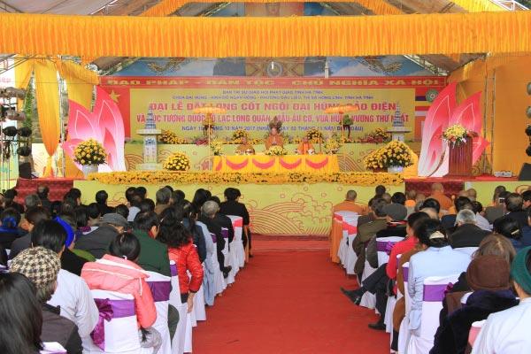 Lễ phạt mộc xây Tam bảo chùa Đại Hùng