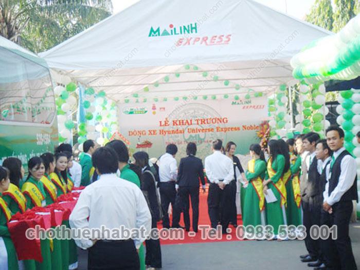 Nhà bạt Công ty Mai Linh Express khai trương xe Huyndai
