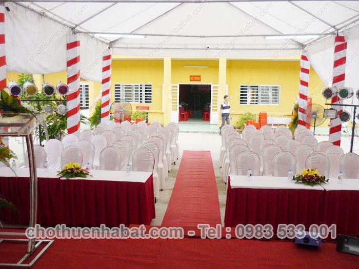 Nhà bạt - Lễ kỷ niệm ngày thành lập trường Trung cấp Công Nghiệp Bình Dương