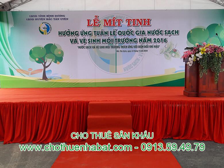 Cho Thuê Sân Khấu tại Cty. Dĩnh Huy, Bình Dương