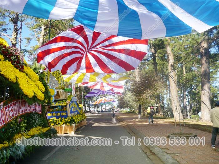 Dù che - Lễ hội Festival Hoa Đà Lạt