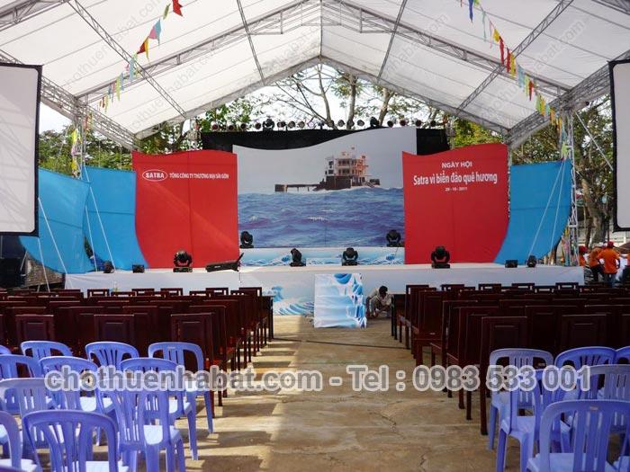 Nhà bạt không gian- Ngày hội Satra vì biển đảo quê hương- Bình Thạnh- TPHCM