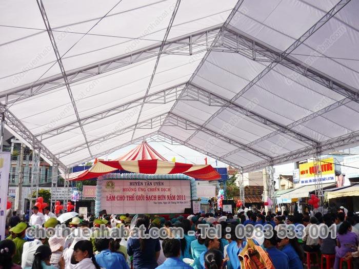 Nhà bạt - Huyện Tân Uyên hưởng ứng chiến dịch Làm cho thế giới sạch hơn 2011 - Bình Dương